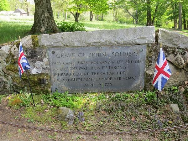 Grave of British soldiers at North Bridge, Concord, MA