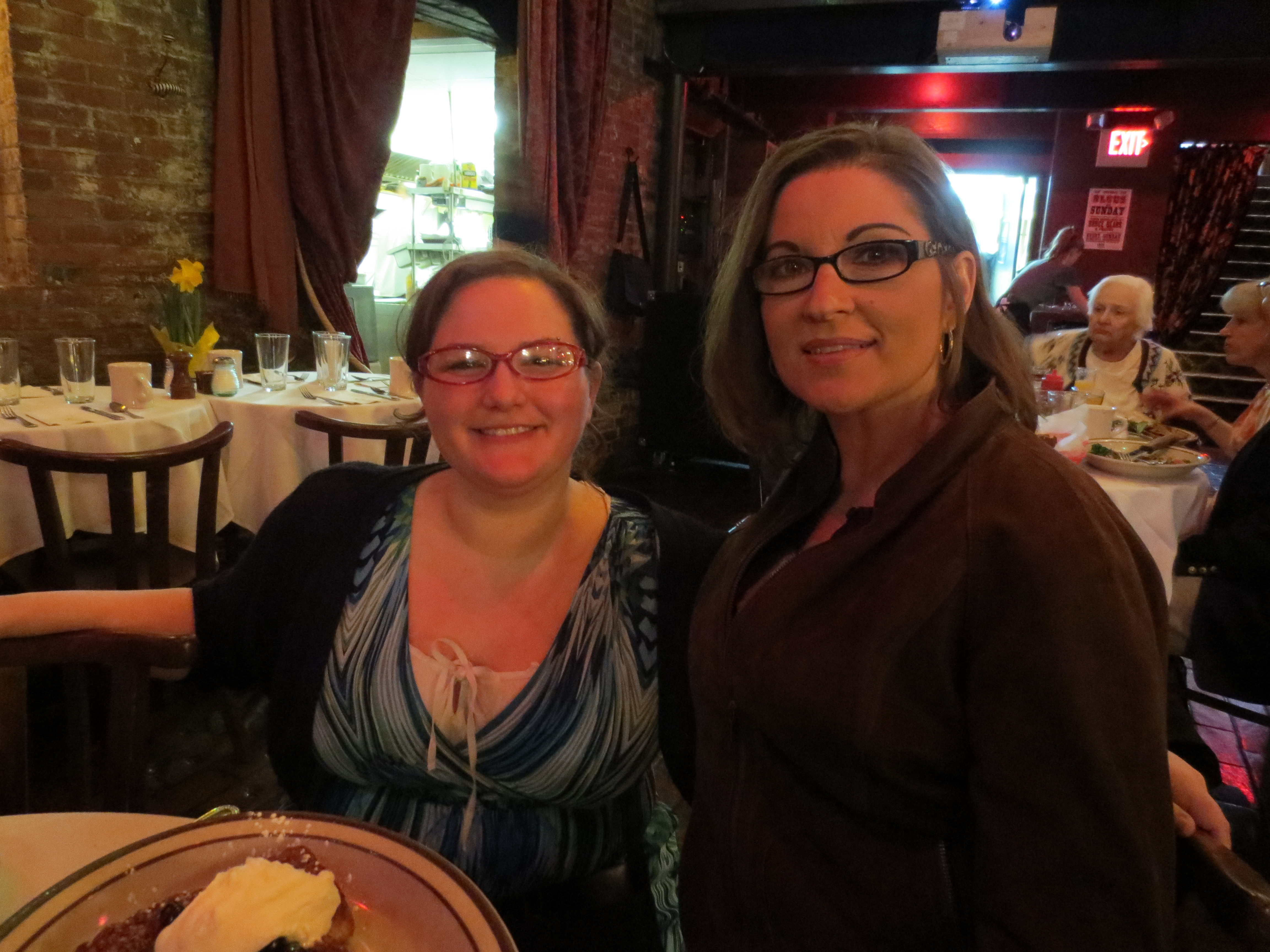 ... Paula and our awesome server Stephanie The Beehive 3-31-13 Boston
