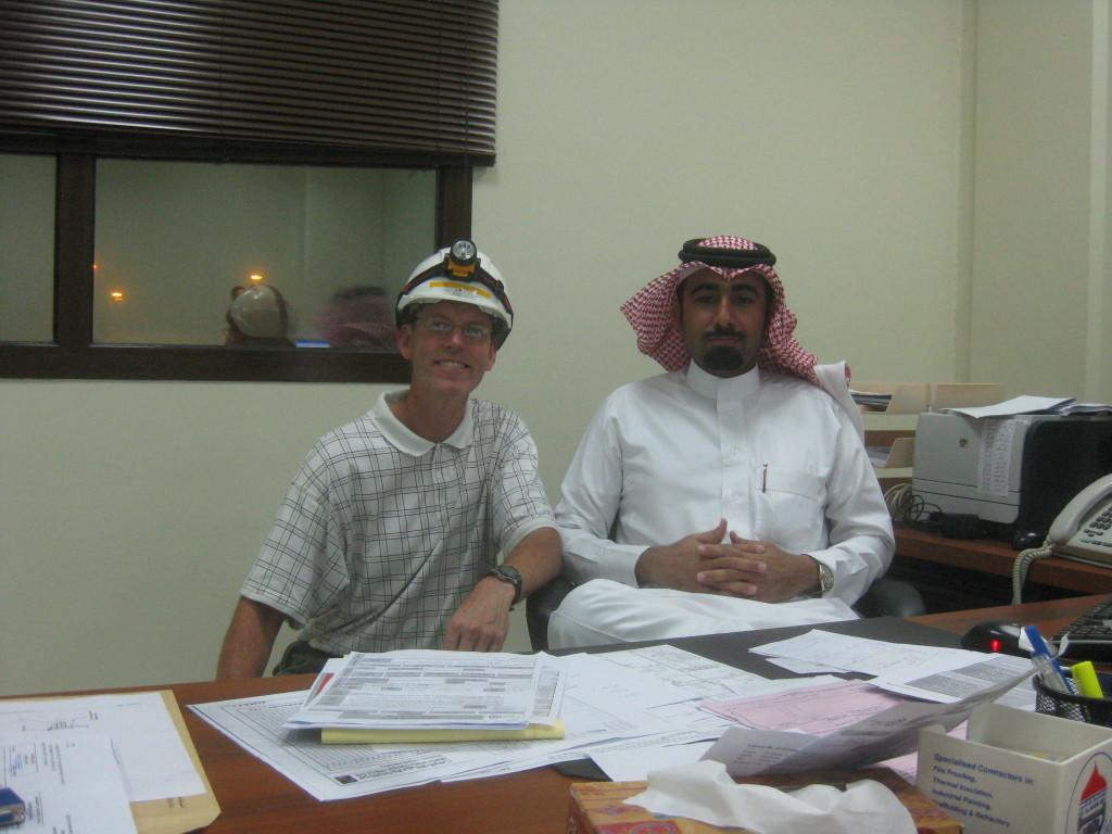 Saudi - One of teh local Saudis showing off his local garb at Qurayyah near Dammam