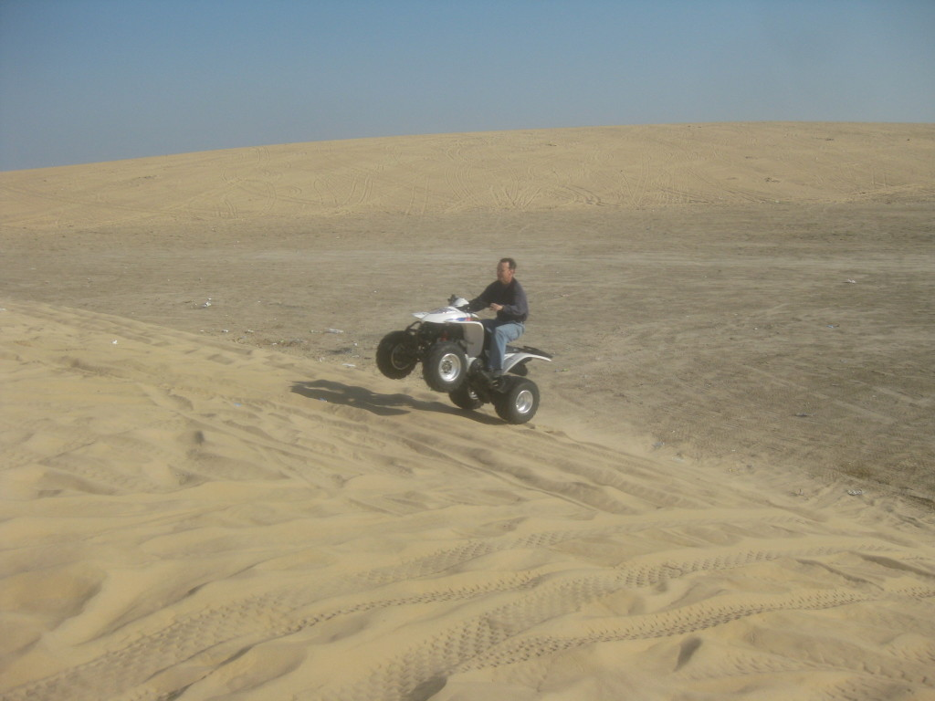 Saudi - Saudi Arabia is 99 desert and there was fun to be had in riding teh 4 wheelers on these dunes near Al Khobar