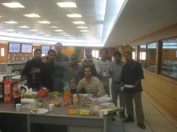 Saudi - Thanksgiving lunch at the Qurayyah Power Plant