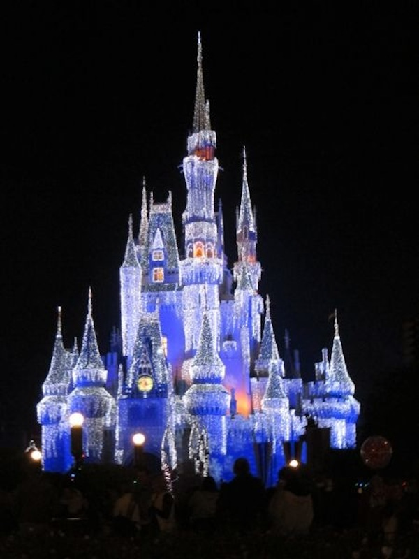 Cinderella Castle with dream lights