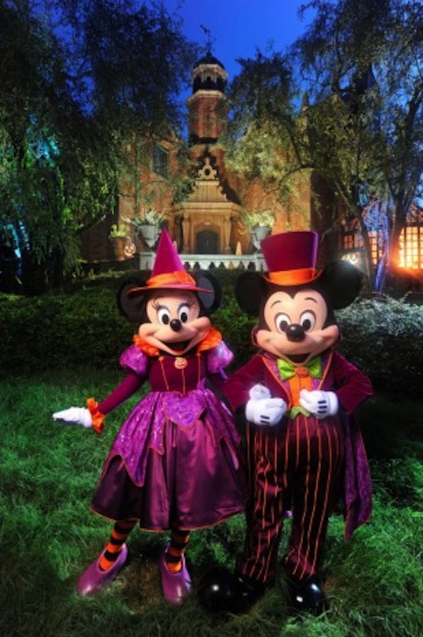 Halloween Mickey and Minnie