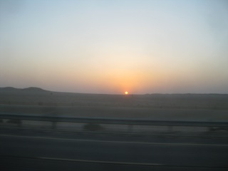 Kuwait - The seemingly endless horizon across the Kuwaiti desert makes for beautiful sunsets day after day