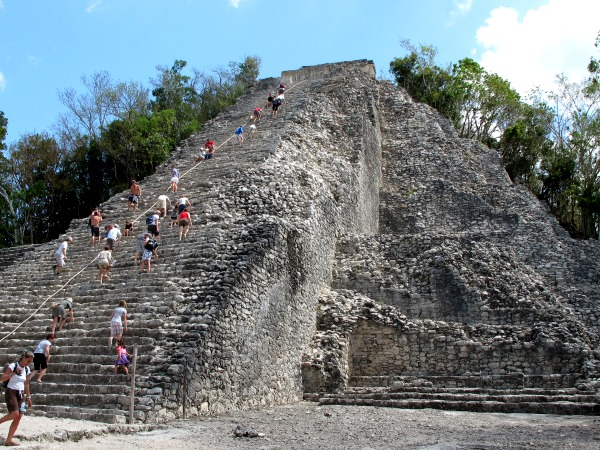 pyramid at coba mexico
