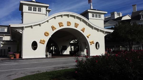 boardwalk entrance to disney