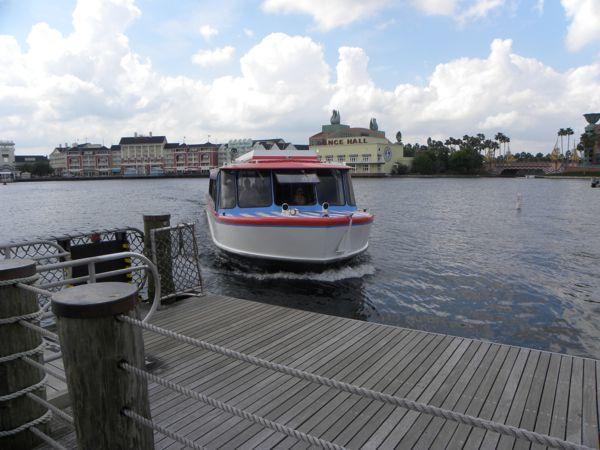water taxi in disney's boardwalk area