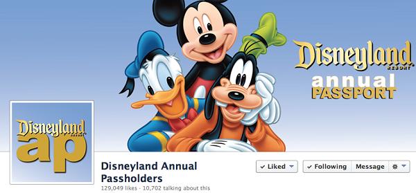 Disneyland Annual Passport Facebook Page