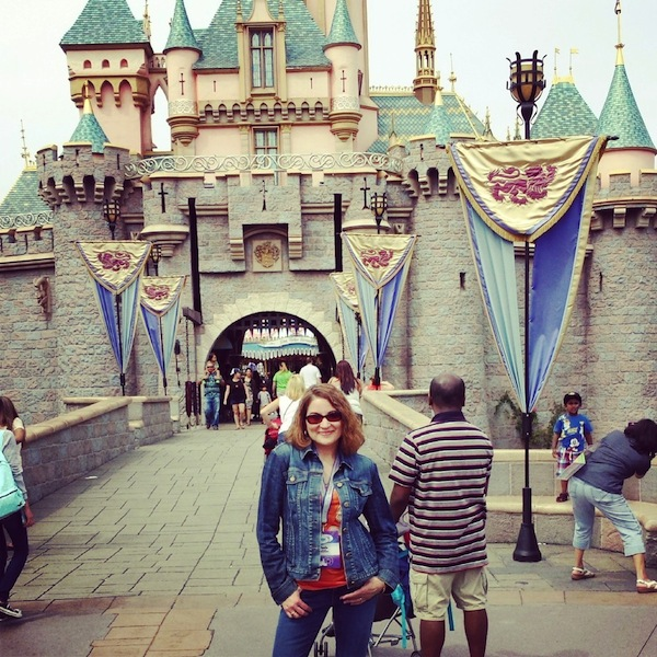 Paula in front of the Disney Castle