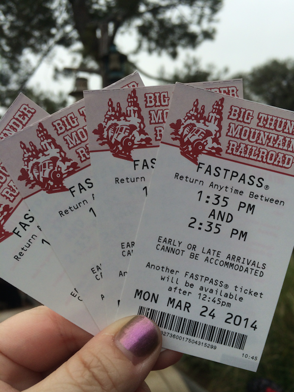 Big Thunder Mountain Railroad Disneyland Fastpass