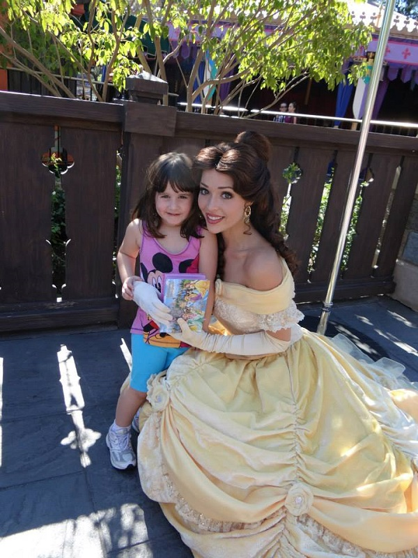 Belle and Abby at Disneyland