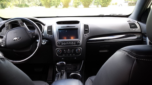 Dash view of Kia