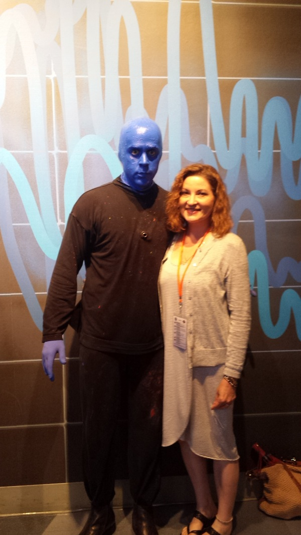 BLue Man Group Photo with Paula