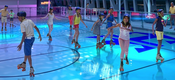 Rollerskating - photo credit: royalcaribbean.com
