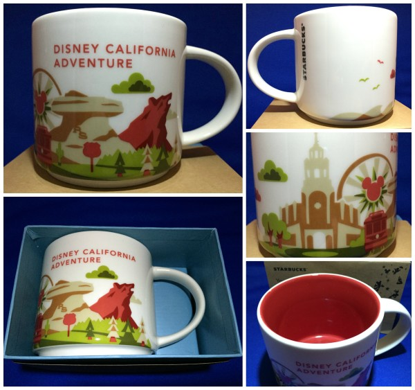 Disney California Adventure - Starbucks You Are Here Mugs - Collage