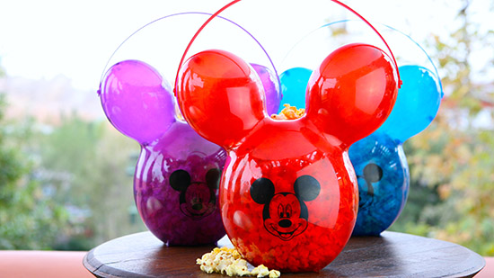 Disneyland 60th Anniversary Popcorn Buckets (Photo Credit- Disney Parks)