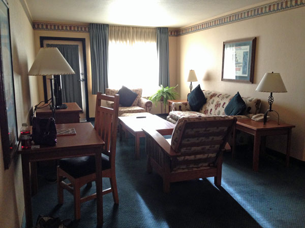 Spacious living area in our suite.