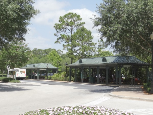 Disney Port Orleans Resort - French Quarter - Exterior - Bus Station - Blues and Jazz Station