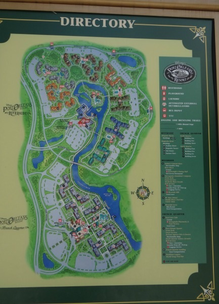 Disney Port Orleans Resort - Resort Map