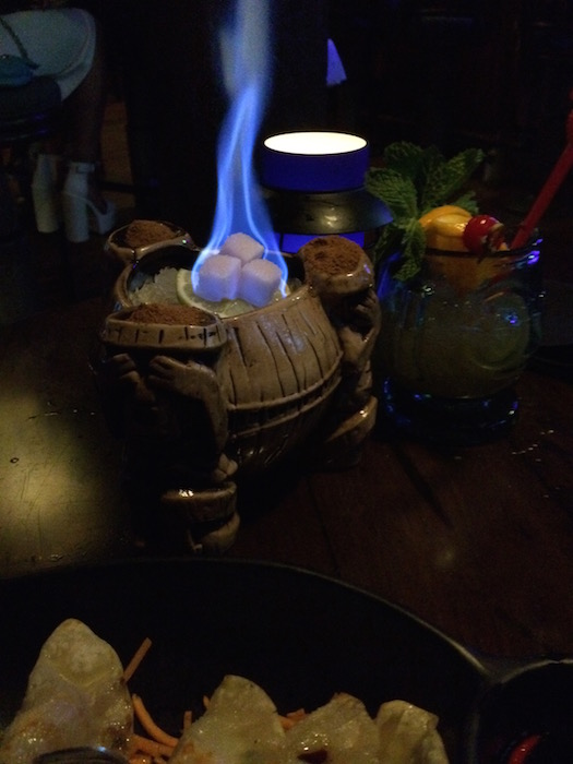 Trader Sam's Grog Grotto - Drink on Fire