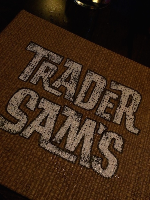 Trader Sam's Grog Grotto - Menu Cover