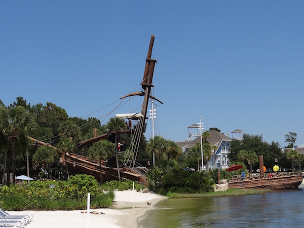 Disney Yacht Club - Pirate Ship Slide