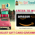 Enter our August Giveaway from This Girl Travels for a Chance to Win a $50 Amazon Gift Card!