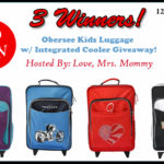 Winner's Choice Obersee Kids Luggage w/ Integrated Cooler Giveaway! 3 Winners! $240 TRV!