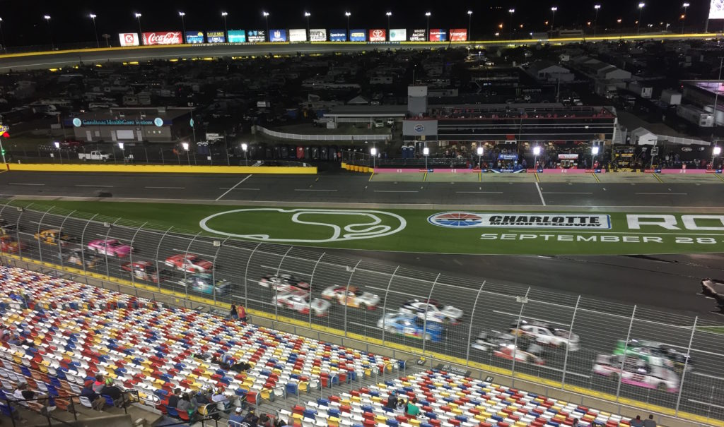 Races on NASCAR track