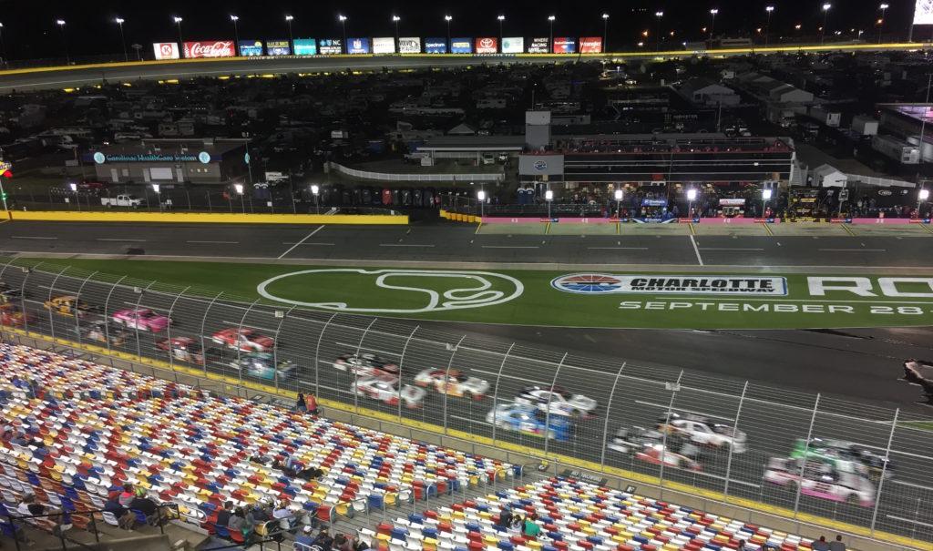 Races on NASCAR track